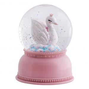 Luz de globo de nieve: cisne