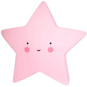 Poca luz: estrella - rosa